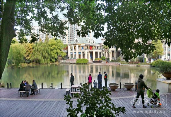 南京小区升级水体打造楼间景观河
